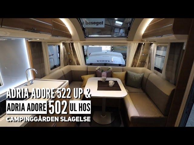 Adria Adore 522 UP & Adria Adore 502 UL hos Campinggården Slagelse