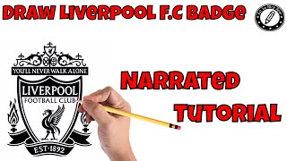 Draw Soccer Badges|Learn how to draw Soccer Badges|Draw soccer logos|Liverpool F.C badge|