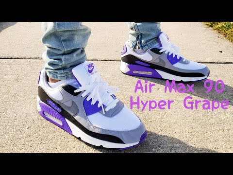 air-max-90-hyper-grape-2020-unboxing-&-on-feet!!