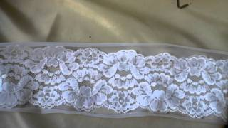 4 Rolls Mixed Lot Lace Trims Vintage Fabric Lot 163#