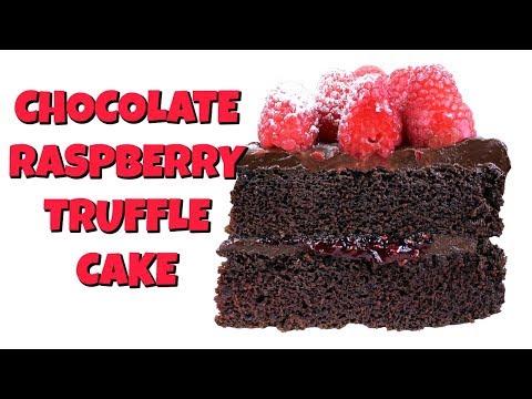 Chocolate Raspberry Truffle Cake - NO MIXER REQUIRED!