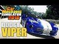 Dodge Viper Junkyard Restoration - MOD - Car Mechanic Simulator 2018 Gameplay - Livestream