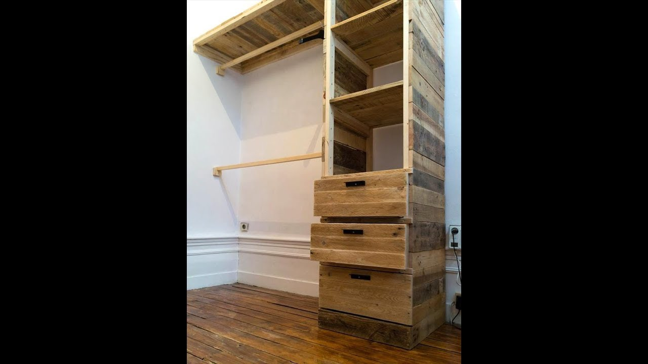 Closet de pallet decorarMoveisCaseiros Tutoriais