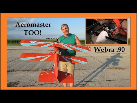 Vintage Lou Andrews' Aeromaster Too With Vintage Webra .90