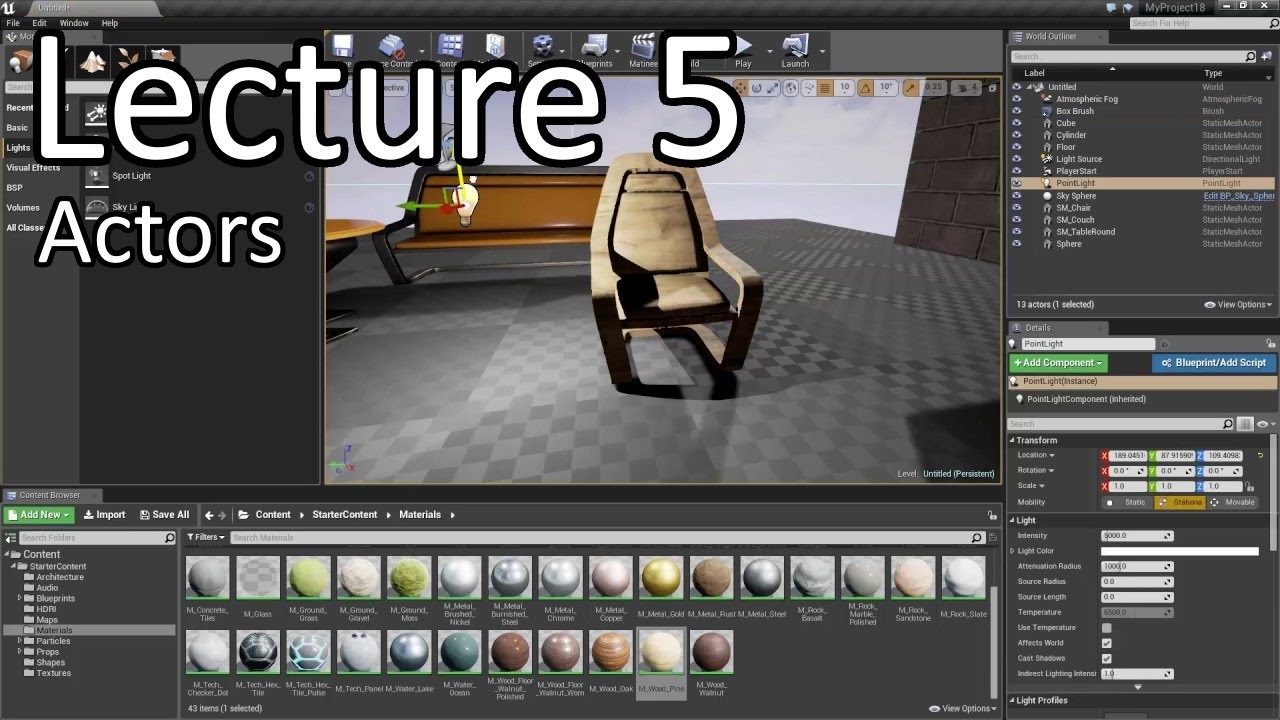 Learn Unreal Engine - Lecture 5 - Actors // Unreal Engine 4 Tutorials