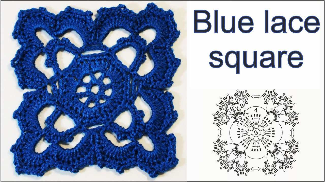 How to crochet lace square blue lace square youtube how to crochet lace square blue lace square bankloansurffo Image collections