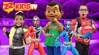 Power Rangers Dina Fury vs Goo Goo Gaga Toon! ZZ Kids TV Scavenger Hunt