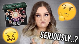 HMM... | BH COSMETICS ZODIAC PALETTE REVIEW | TUTORIAL, SWATCHES & PROBLEMS..