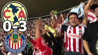 AMERICA(0) VS (3)CHIVAS - ESTADIO AZTECA - JORNADA 7 - RESUMEN