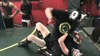 Adam VS Matt Jiu Jitsu VS Kick Boxing Round 1 Part 2