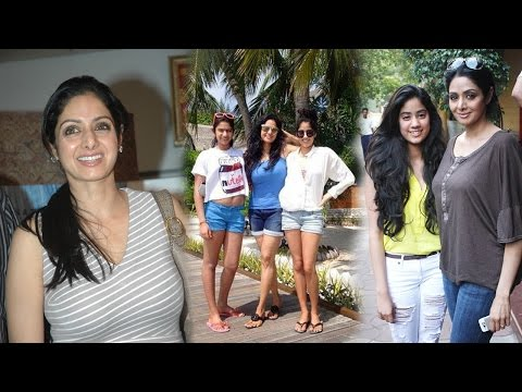 Sridevi Family Photos  Actress Sridevi with Husband and Daughters