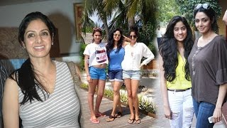 Sridevi Family Photos | Actress Sridevi with Husband and Daughters