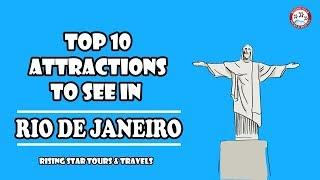 Top 10 Attractions in Rio de Janeiro | BRAZIL