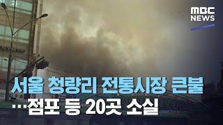 서울 청량리 전통시장 큰불…점포 등 20곳 소실 (20…