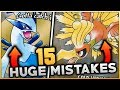 15 HUGE Mistakes & Glitches In Pokemon Gold And Silver (Generation 2)