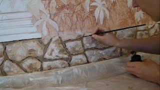 Мастер класс Как сделать декоративный #камень из фасадной штукатурки и расписать его *Декор стен*.(, 2014-12-27T15:21:04.000Z)