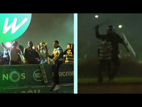 Sporting Lisbon fans clash with riot police amid title celebrations  | Sporting Lisbon | Liga NOS
