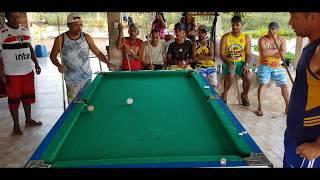 Baianinho de Mauá jogando sinuca como você nunca VIU!🎱😳