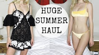 HUGE SUMMER CLOTHING HAUL + TRY ON, Free People, Dolls Kill, Princess Polly