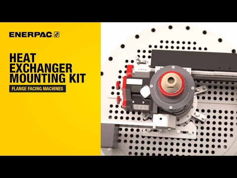 Heat Exchanger Mounting Kit - Flange Facing Machine Demonstration