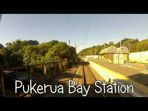 Train from Wellington to Waikanae, Drivers eye view at 3 times full speed