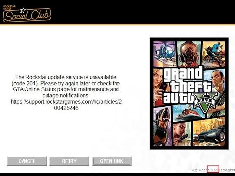 """How to fix error """"Rockstar update service is unavailable"""" (error code 201) in GTA Online"""