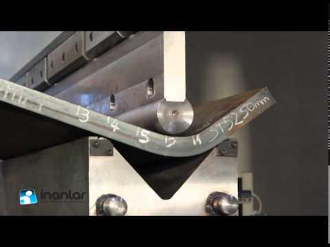 Гибка листа толщиной 50мм  Пресс с ЧПУ: усилие 1250 тонн, длина 4100 мм