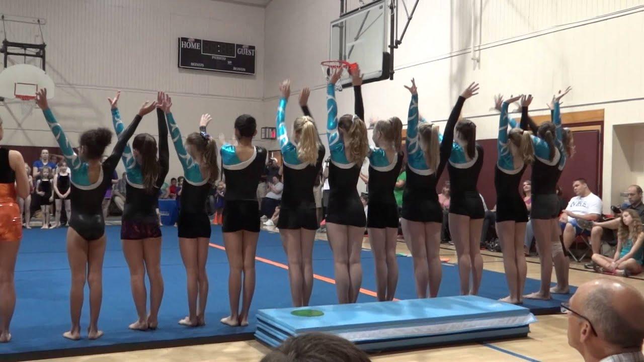 Frederick County Maryland YMCA gymnastics program/End of year show