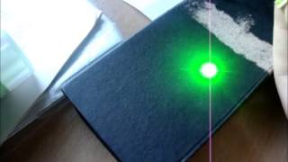DealExtreme 5mW Green Laser Burn mod
