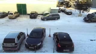 Парковка автомобиля передним ходом