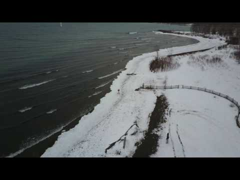 Cherry Beach Winter Foilboard