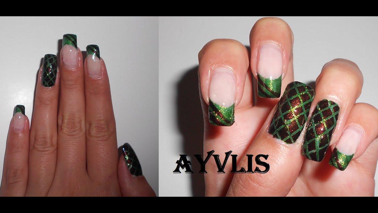 nail art autunno inverno facile veloce effetto pelle di serpente