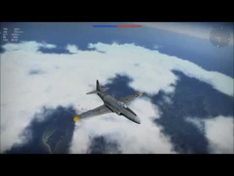 Warthunder P-80A-5 Jet diving from 10000M with flaps in Combat (60fps)