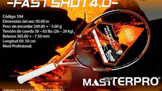 Raquetas masterpro 2018