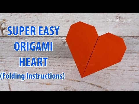 Super Easy Origami Heart Without Glue | How to make an easy Origami Heart for Valentine's Day