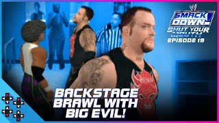 BACKSTAGE BRAWL with THE UNDERTAKER!!! - SmackDown! Shut Your Mouth #19 - UpUpDownDown Plays