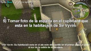 Guia para hacer la quest (mision) Knight's Sword [Spanish] - Runescape