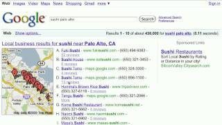 15 second search tip: Local businesses