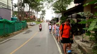 Пхукет. Дорога на пляж КАТА (Phuket,  road on the beach Kata)(от Kata view GUEST HOUSE до пляжа Ката., 2013-03-03T16:04:31.000Z)