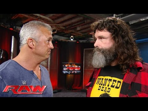 Shane McMahon questions Mick Foley