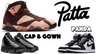 PATTA AIR JORDAN 7, JORDAN 13 CAP AND GOWN, JORDAN 1 PANDA AND MORE
