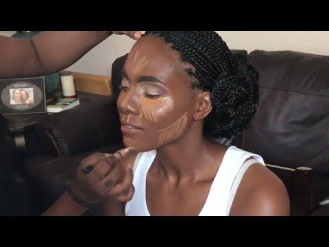 Glowing Bridal MakeUp on Brown Skin