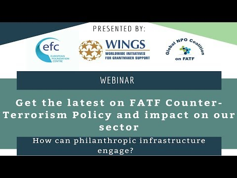 FATF Counter Terrorism Policy Webinar  WINGS, EFC And Global NPO Coalition