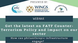 FATF Counter Terrorism Policy Webinar| WINGS, EFC and Global NPO Coalition