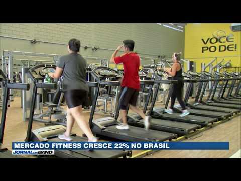 Mercado fitness cresce 22% no Brasil