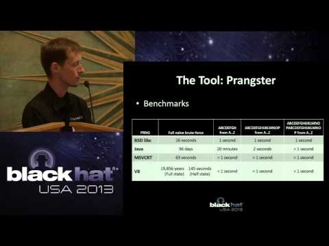 Black Hat USA 2013 - Black-Box Assessment of Pseudorandom Al