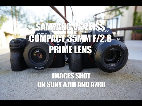 Samyang FE 35mm f/2.8 vs. Zeiss 35mm f/2.8 (Sony A7III and A7RII)