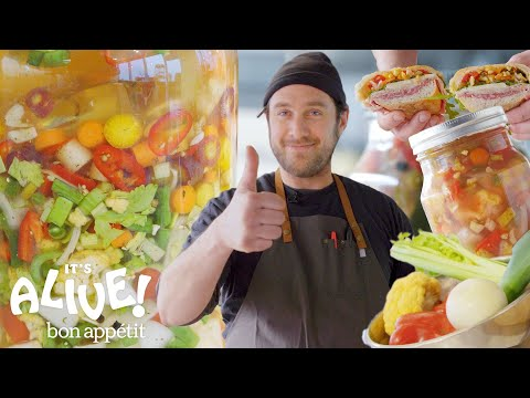 Brad Makes Giardiniera (Italian Pickle Relish) | It's Alive | Bon Appétit