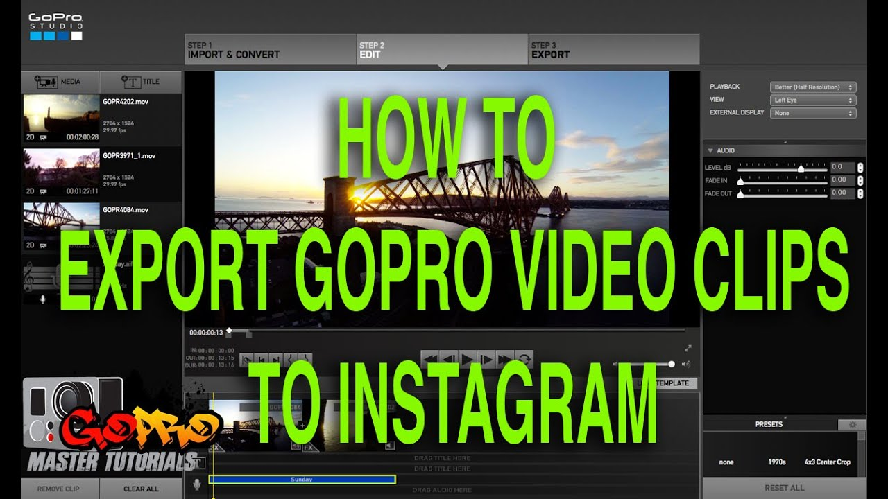 how to make a video on gopro studio