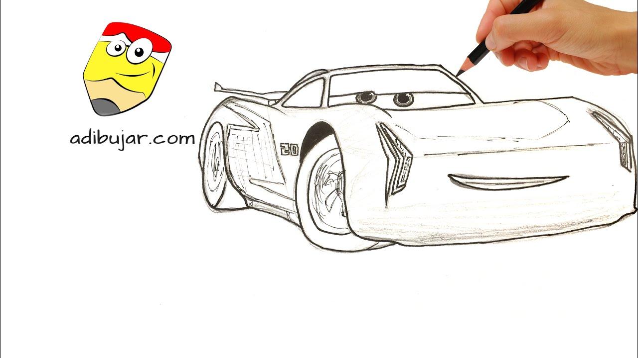 Cómo Dibujar Y Colorear A Rayo De Los Cars 3 Disney: Cars 3: Cómo Dibujar A Jackson Storm A Lápiz Paso A Paso